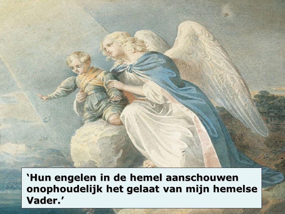 'Hun engelen in de hemel aanschouwen onophoudelijk het gelaat van mijn hemelse Vader.'