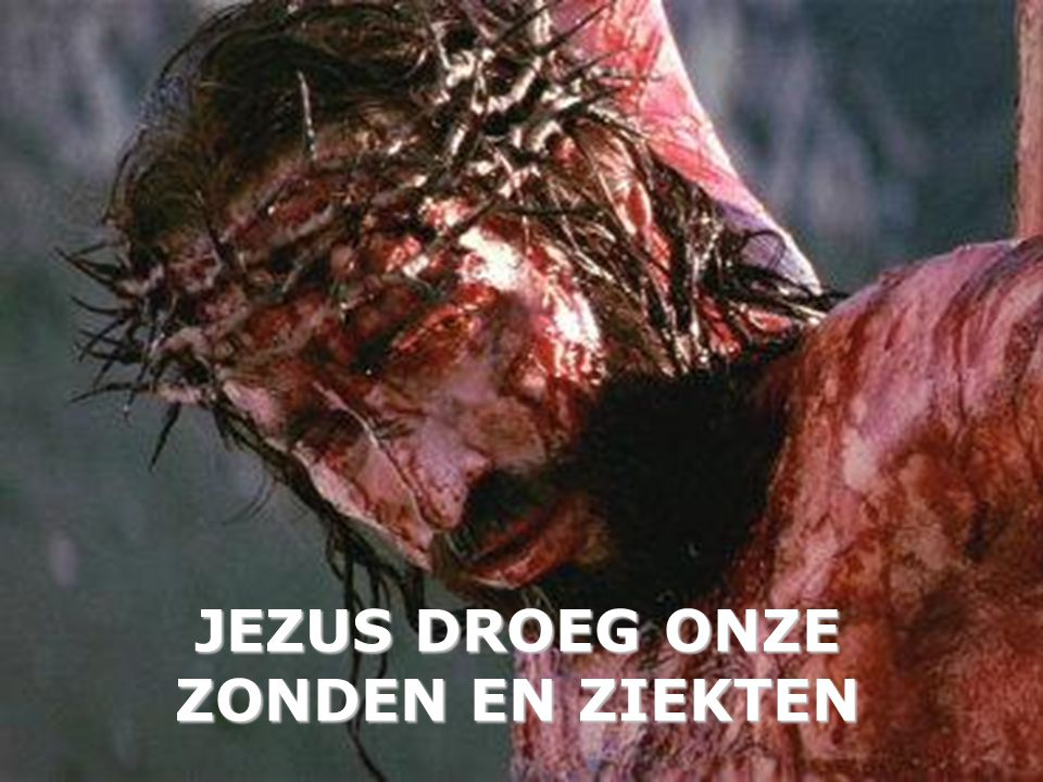 JEZUS DROEG ONZE ZONDEN EN ZIEKTEN