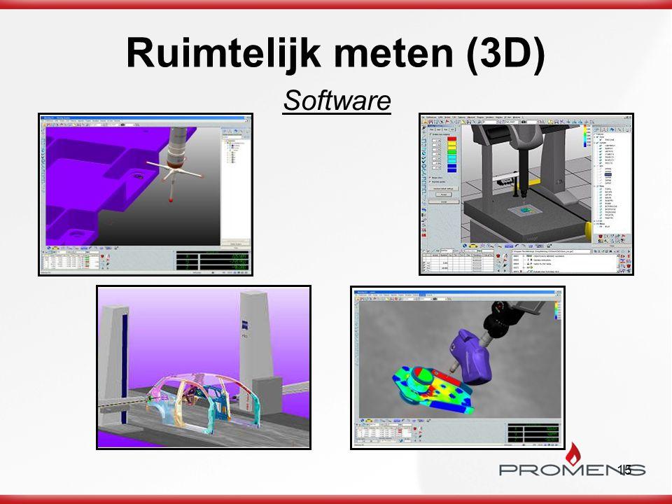 15 Ruimtelijk meten (3D) Software