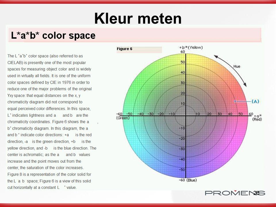 26 Kleur meten