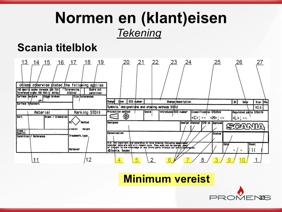 33 Scania titelblok Minimum vereist Tekening Normen en (klant)eisen
