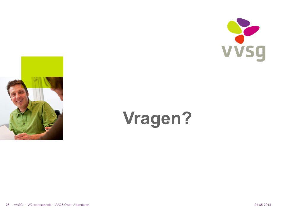 VVSG - Vragen? 24-05-201328 -W2-conceptnota – VVOS Oost-Vlaanderen