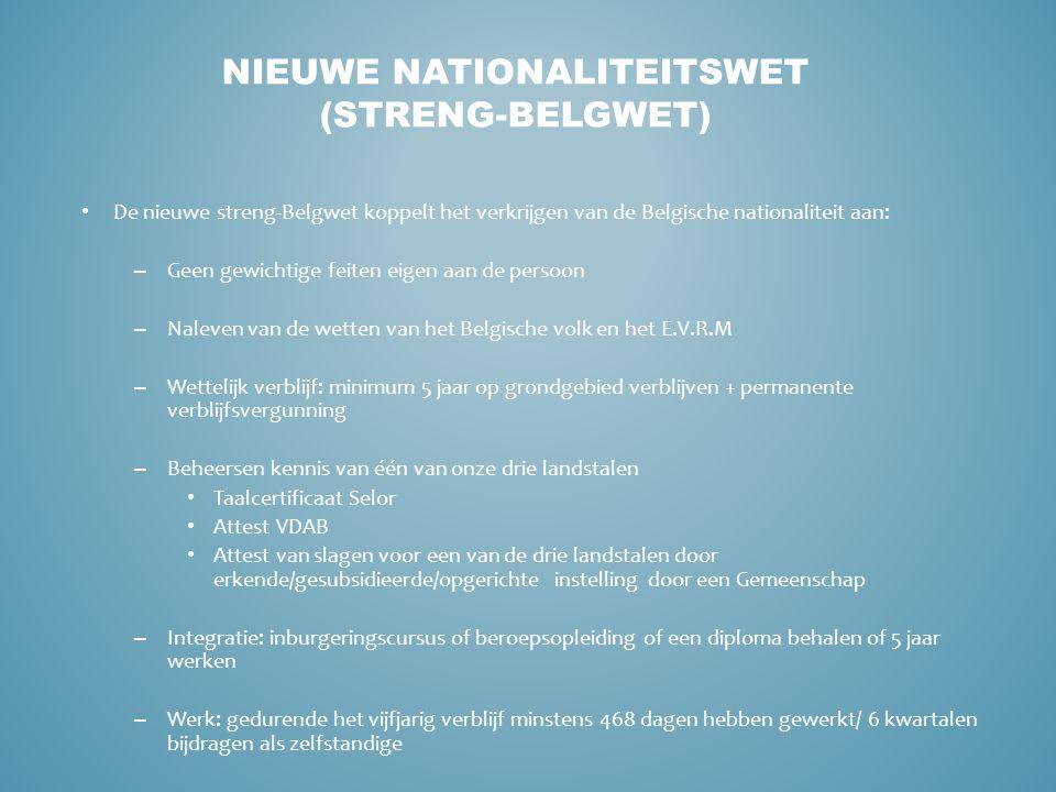 Van de zo wat 11 miljoen inwoners van België hebben er meer dan 800.000 tijdens hun leven de Belgische nationaliteit verworven.