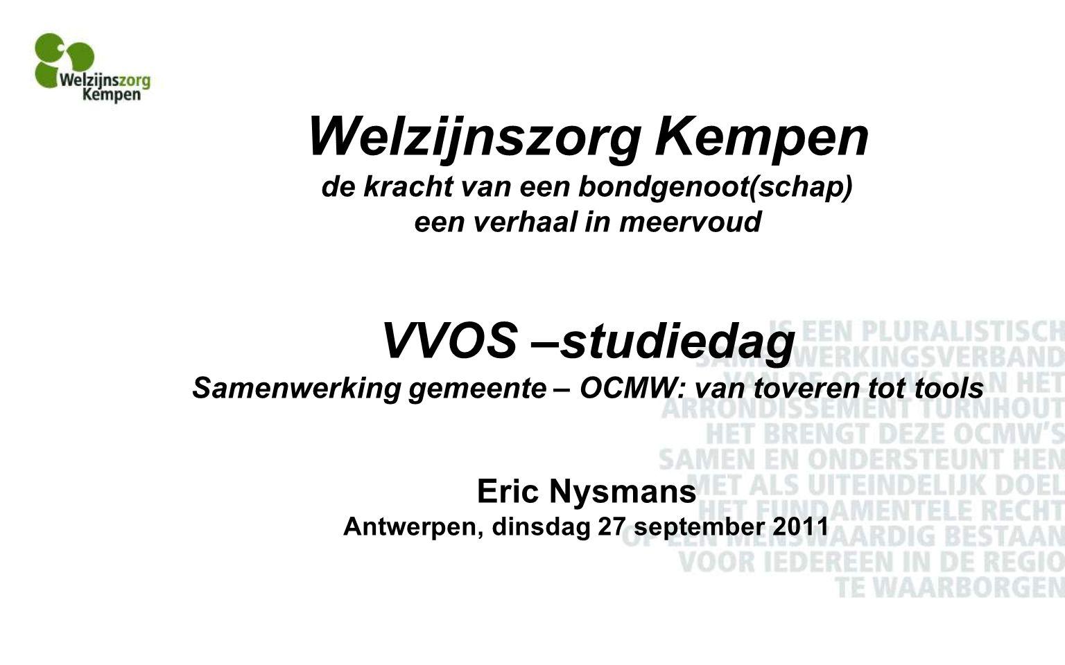 Situering OCMW-decreet van 19 december 2008, titel VIII, hoofdstuk I.