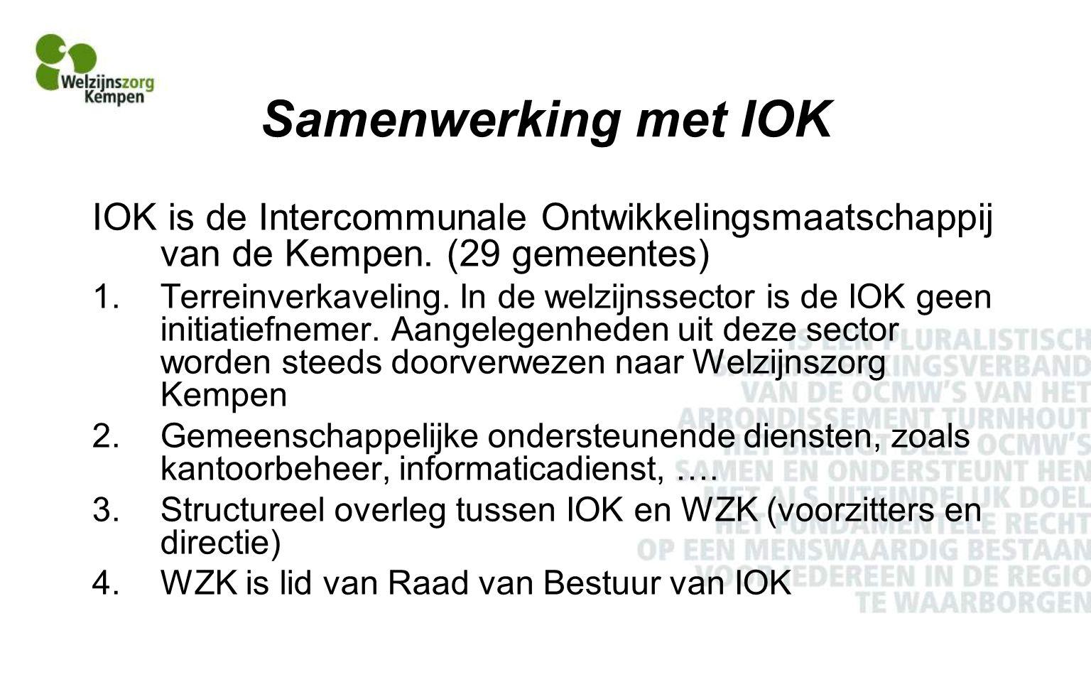 Samenwerking met IOK IOK is de Intercommunale Ontwikkelingsmaatschappij van de Kempen.