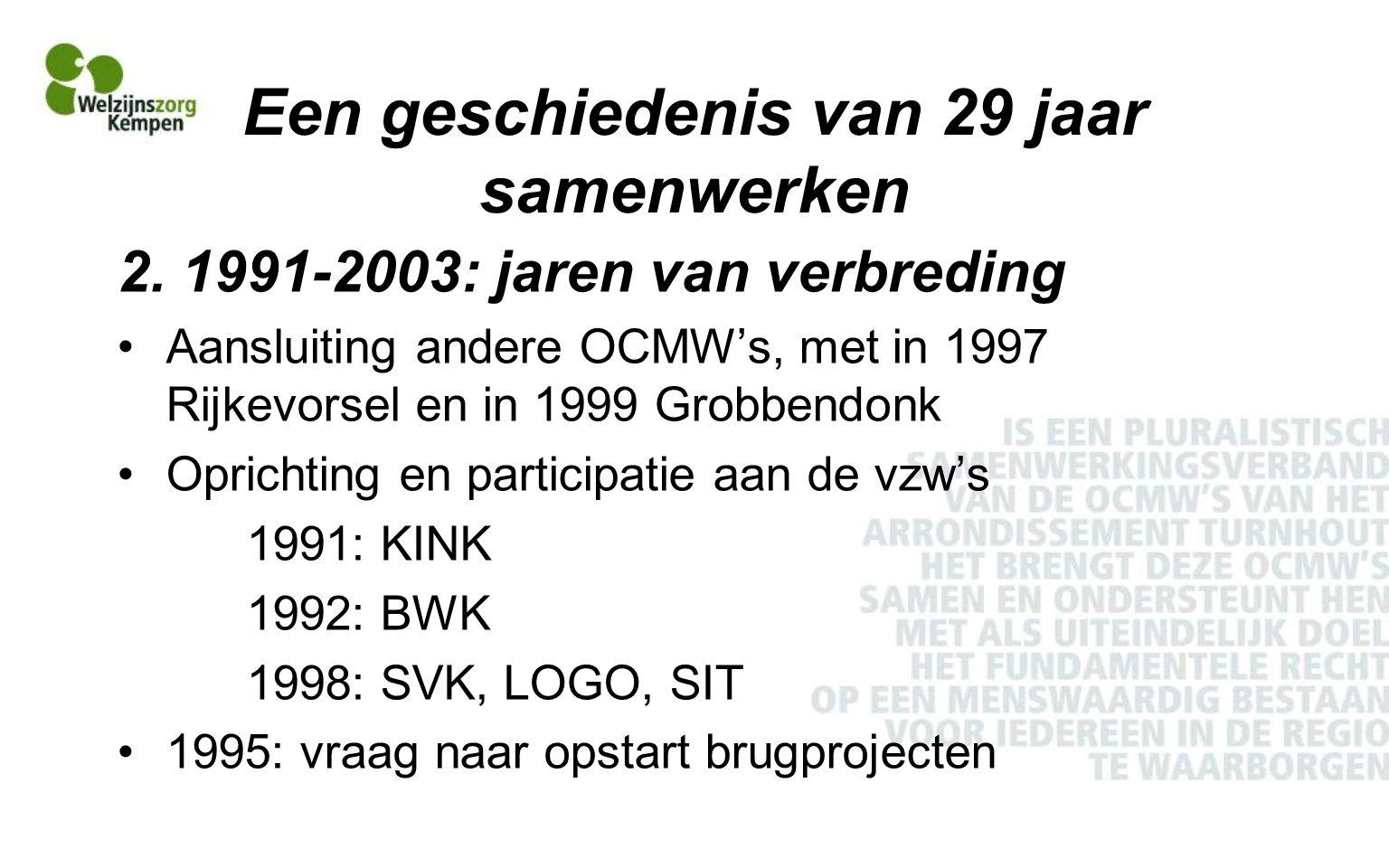 Een geschiedenis van 29 jaar samenwerken 2.