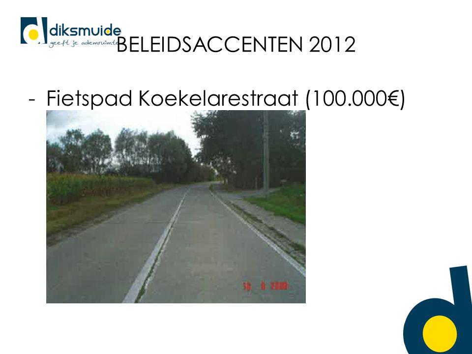 BELEIDSACCENTEN 2012 -Fietspad Koekelarestraat (100.000€)