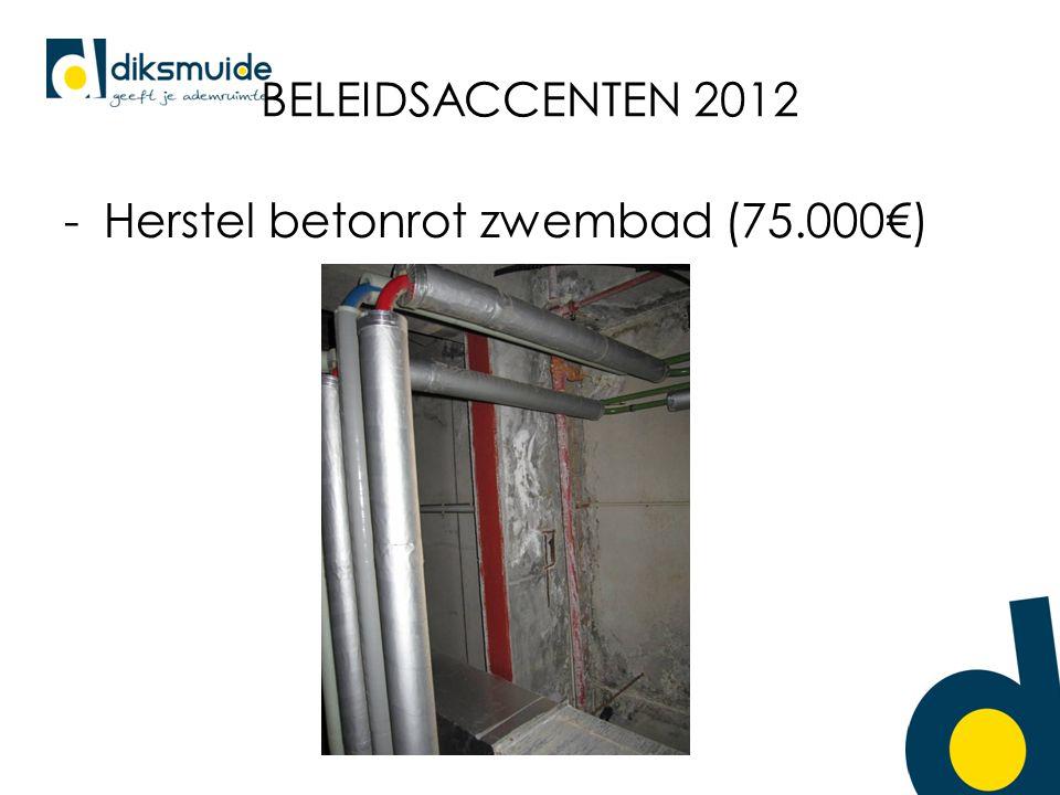 BELEIDSACCENTEN 2012 -Herstel betonrot zwembad (75.000€)