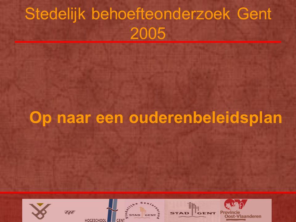 Stedelijk behoefteonderzoek Gent 2005 Op naar een ouderenbeleidsplan