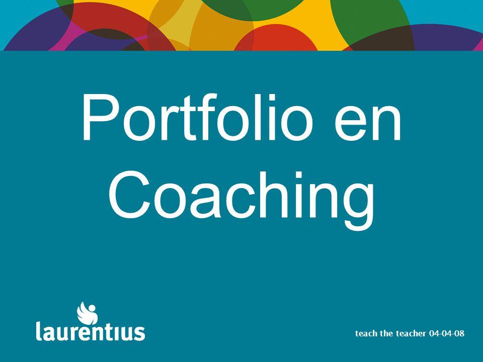 Portfolio en Coaching teach the teacher 04-04-08