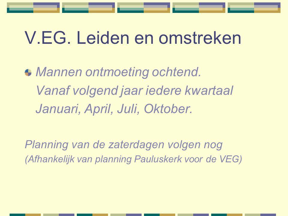 V.EG.Leiden en omstreken Mannen ontmoeting ochtend.