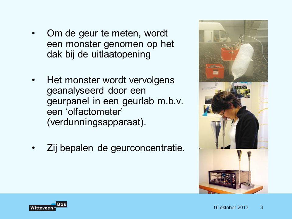 De geurconcentratie is het aantal geureenheden per m³ lucht (tegenwoordig: odour units per m³).