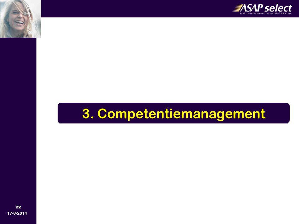 22 17-8-2014 3. Competentiemanagement