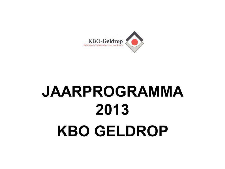 JAARPROGRAMMA 2013 KBO GELDROP
