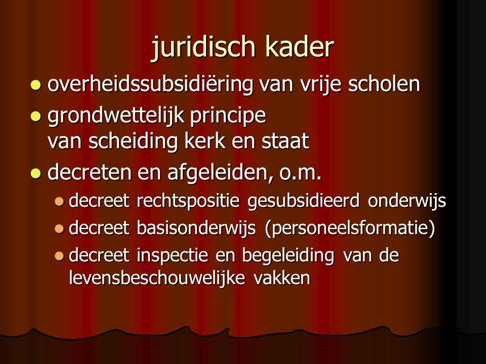 juridisch kader overheidssubsidiëring van vrije scholen overheidssubsidiëring van vrije scholen grondwettelijk principe van scheiding kerk en staat gr