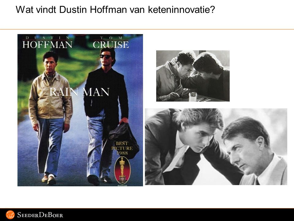 Pagina 3 © 2007 SeederDeBoer Wat vindt Dustin Hoffman van keteninnovatie?