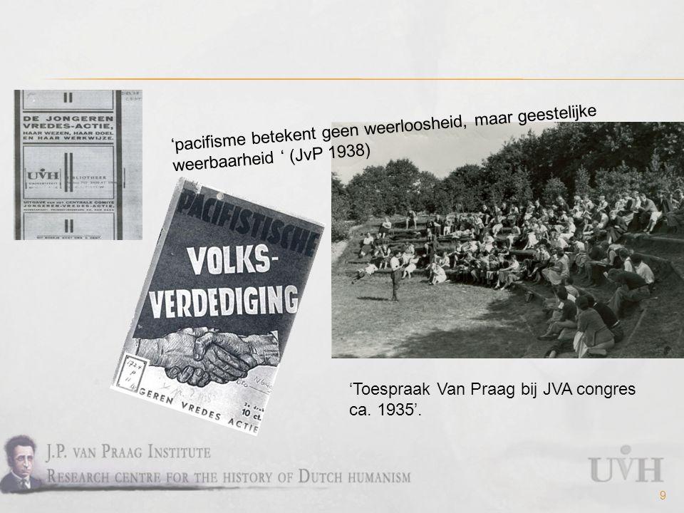 9 'Toespraak Van Praag bij JVA congres ca. 1935'.