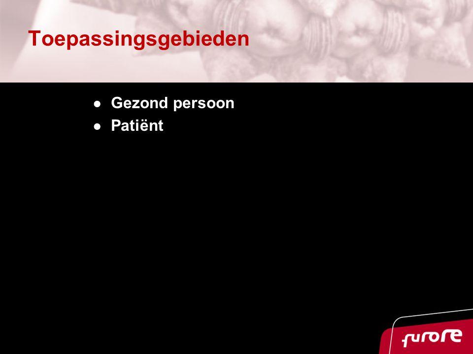 Toepassingsgebieden Gezond persoon Patiënt