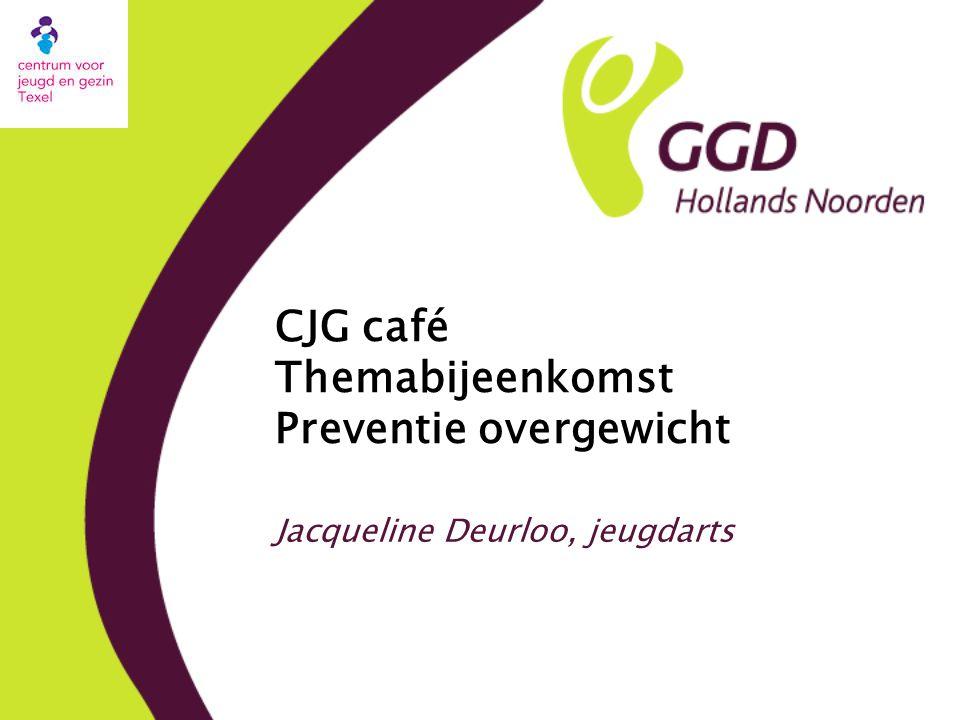 CJG café Themabijeenkomst Preventie overgewicht Jacqueline Deurloo, jeugdarts
