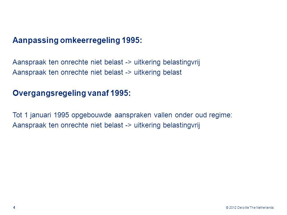 © 2012 Deloitte The Netherlands Overgangsregime 2014.