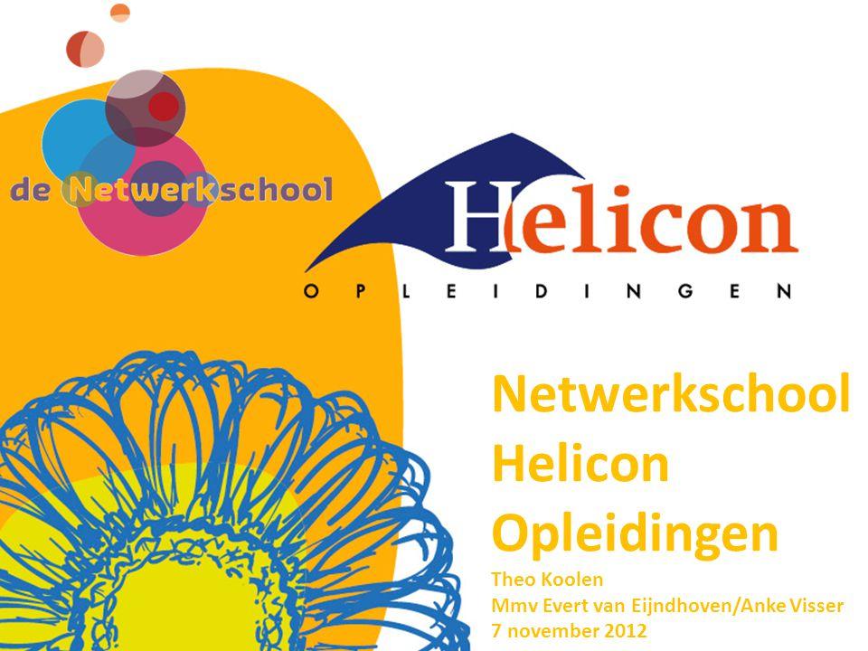 Netwerkschool Helicon Opleidingen Theo Koolen Mmv Evert van Eijndhoven/Anke Visser 7 november 2012