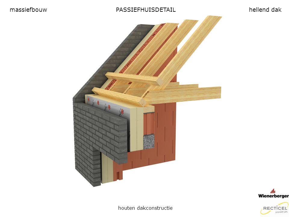 PASSIEFHUISDETAIL houten dakconstructie massiefbouwhellend dak