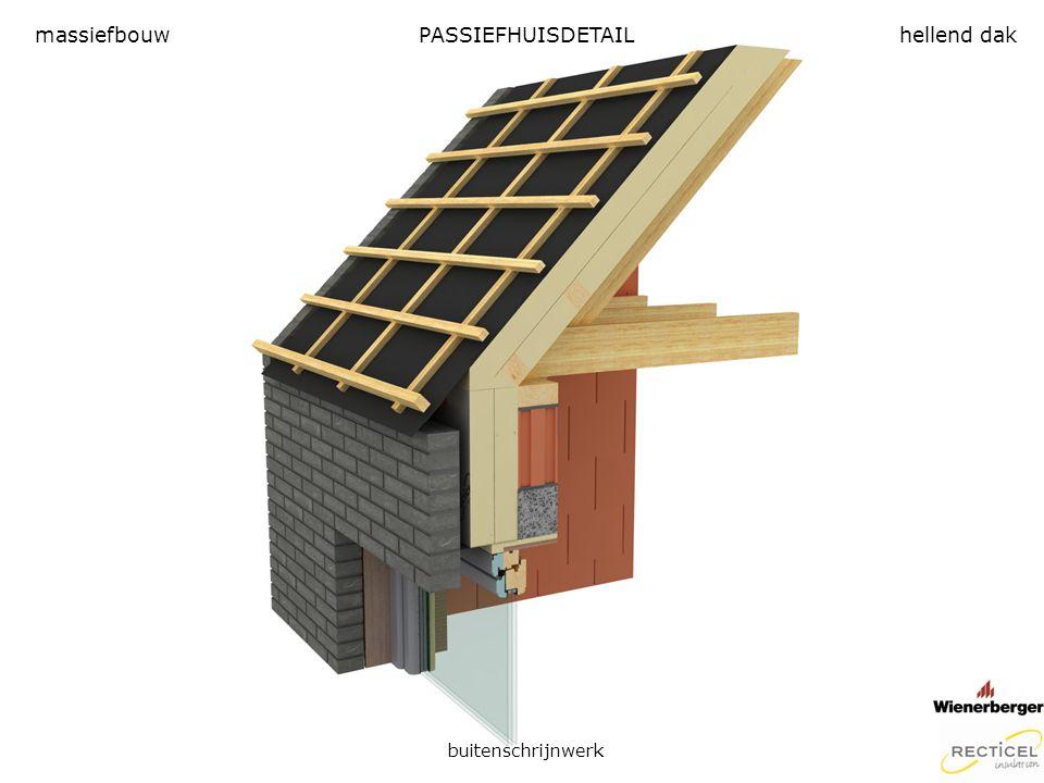 PASSIEFHUISDETAIL buitenschrijnwerk massiefbouwhellend dak