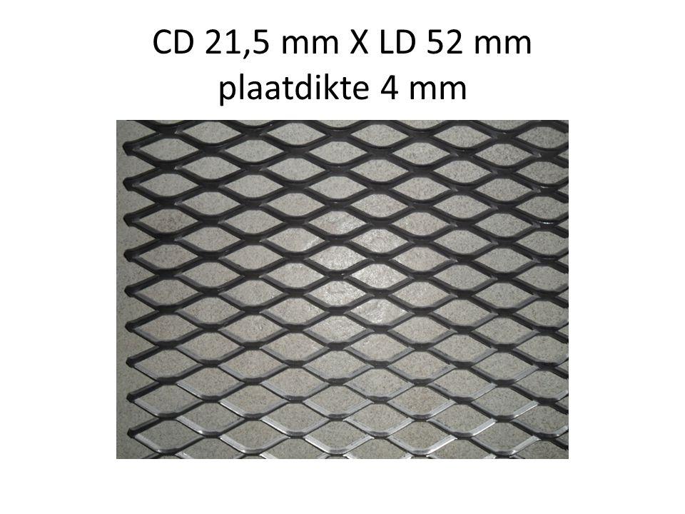 CD 21,5 mm X LD 52 mm plaatdikte 4 mm