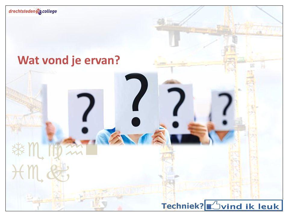Techn iek Vervolgonderwijs op het DC Zorg & Welzijn Economie Consumptief Techniek