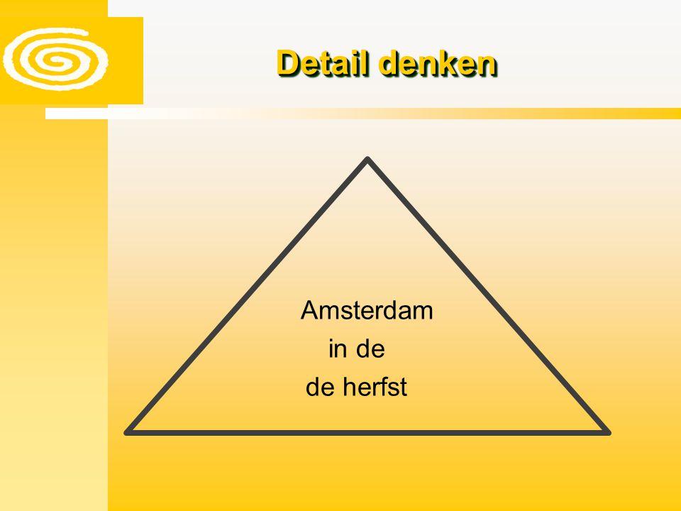 Detail denken Amsterdam in de de herfst