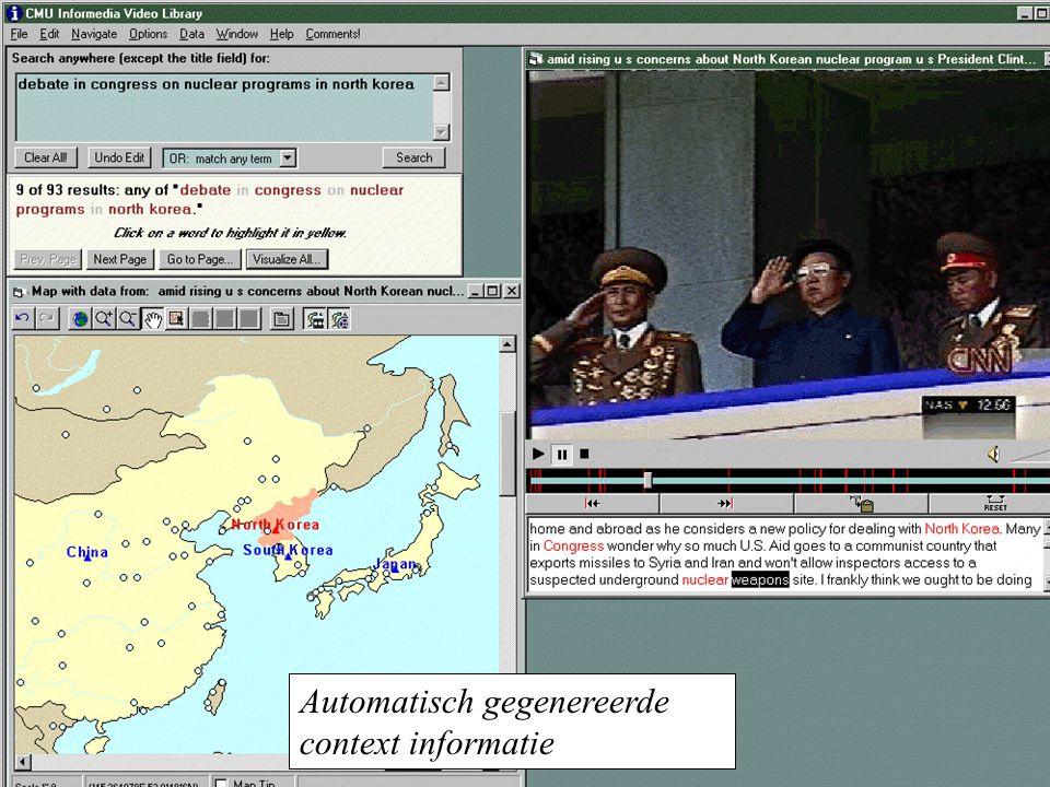 Automatisch gegenereerde context informatie