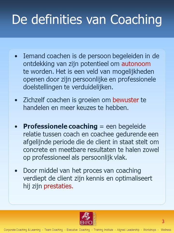 Iemand coachen is de persoon begeleiden in de ontdekking van zijn potentieel om autonoom te worden. Het is een veld van mogelijkheden openen door zijn