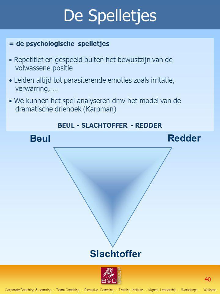 = de psychologische spelletjes Repetitief en gespeeld buiten het bewustzijn van de volwassene positie Leiden altijd tot parasiterende emoties zoals ir