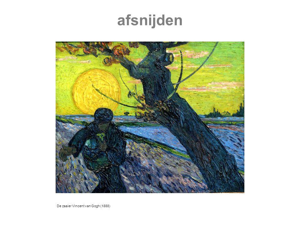De zaaier Vincent van Gogh (1888) afsnijden