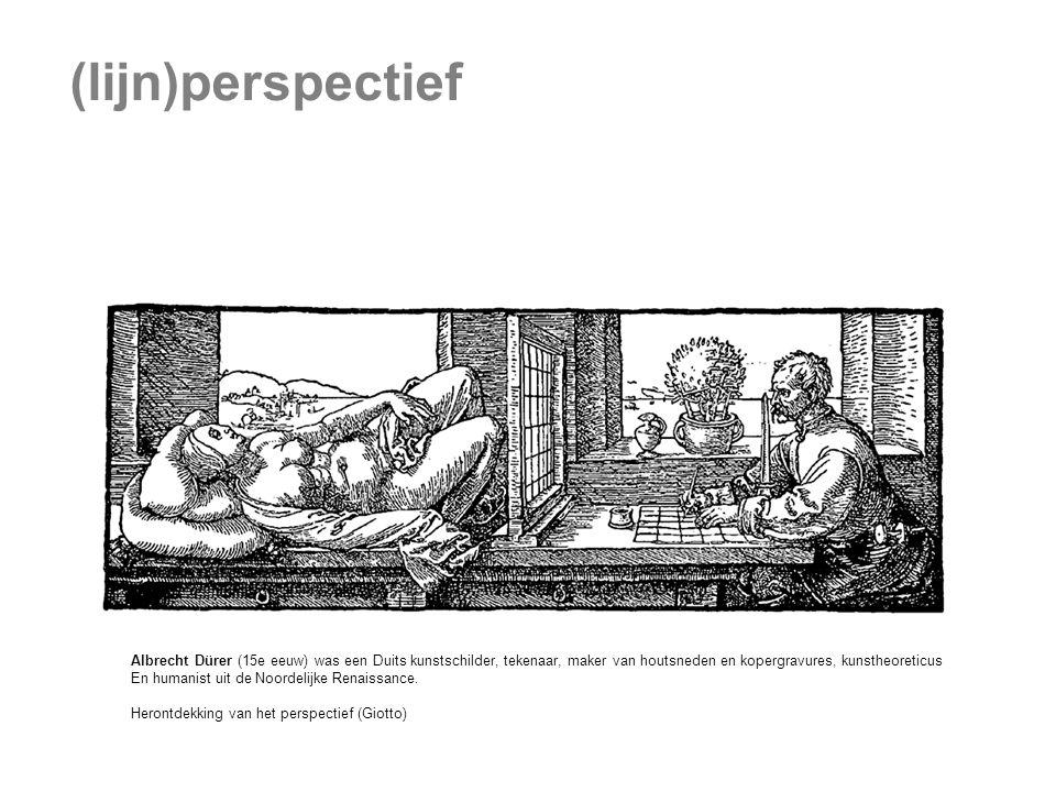 (lijn)perspectief Albrecht Dürer (15e eeuw) was een Duits kunstschilder, tekenaar, maker van houtsneden en kopergravures, kunstheoreticus En humanist