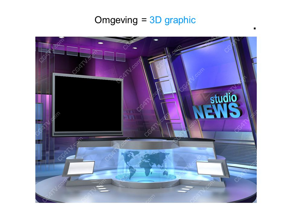 Omgeving = 3D graphic.