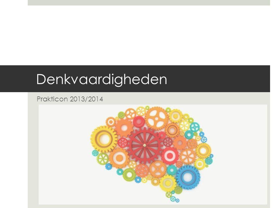 Doelen  Doel 1  Uitleg Thinking Skills en ontwikkeling.