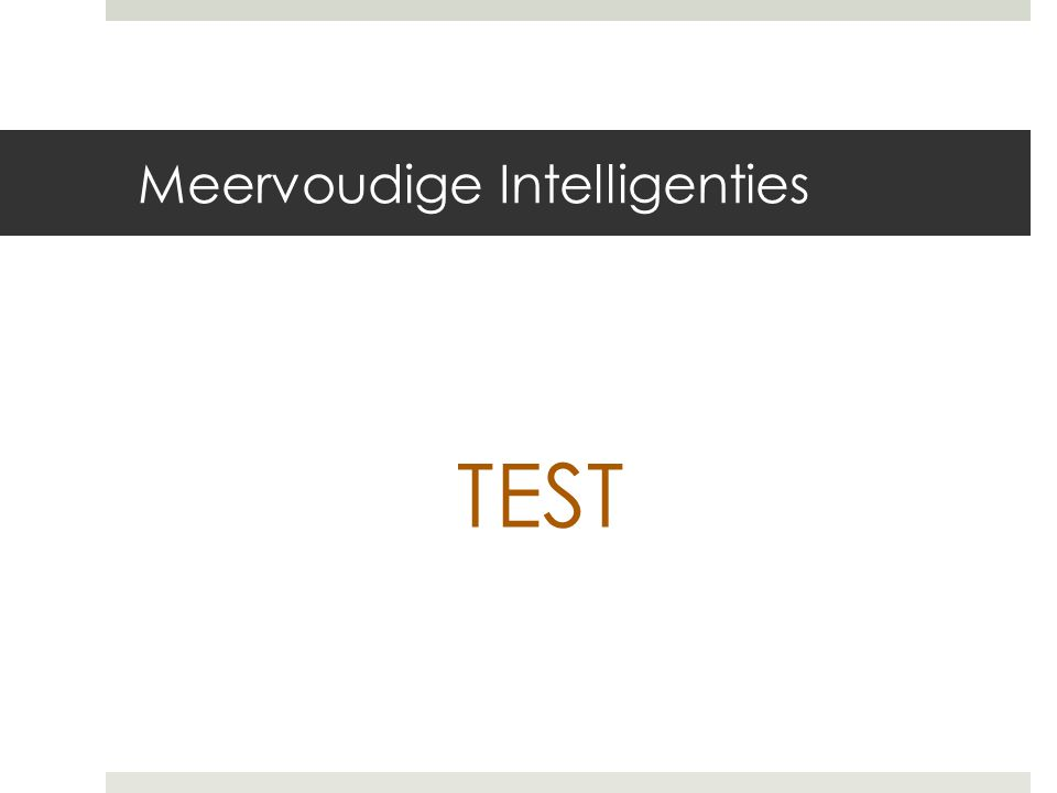 Meervoudige Intelligenties TEST