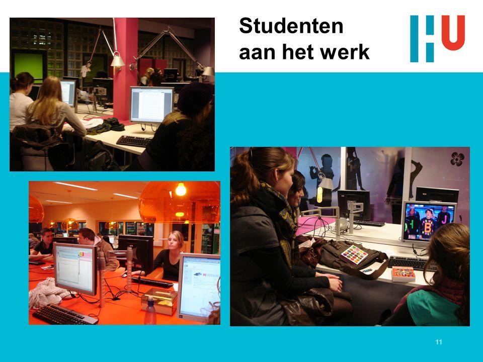 11 Studenten aan het werk