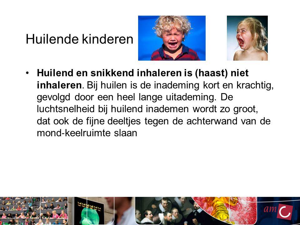 Huilende kinderen Huilend en snikkend inhaleren is (haast) niet inhaleren. Bij huilen is de inademing kort en krachtig, gevolgd door een heel lange ui