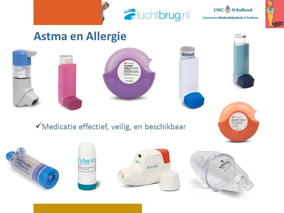 Medicatie effectief, veilig, en beschikbaar Astma en Allergie