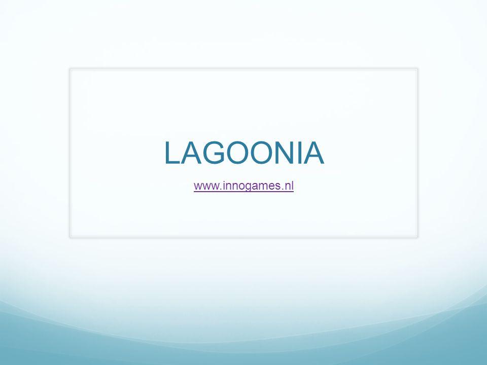 Wat is Lagoonia.Het spel lagooinia speel je met bewoners van een eiland.