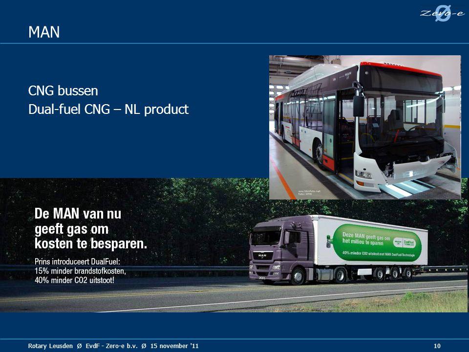 Rotary Leusden Ø EvdF - Zero-e b.v. Ø 15 november 11 10 MAN CNG bussen Dual-fuel CNG – NL product