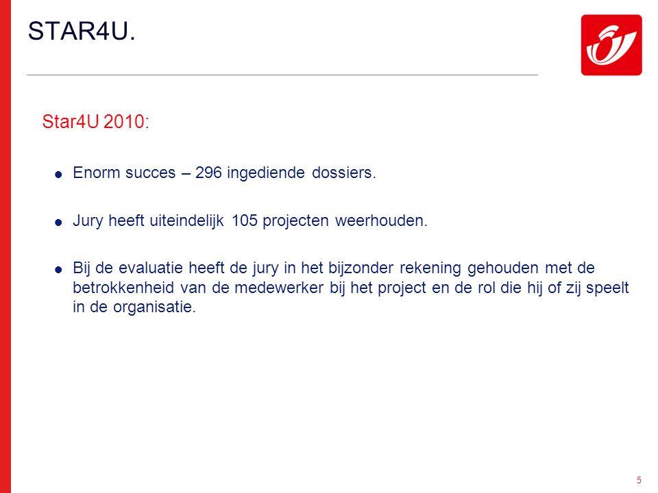 5 Star4U 2010:  Enorm succes – 296 ingediende dossiers.