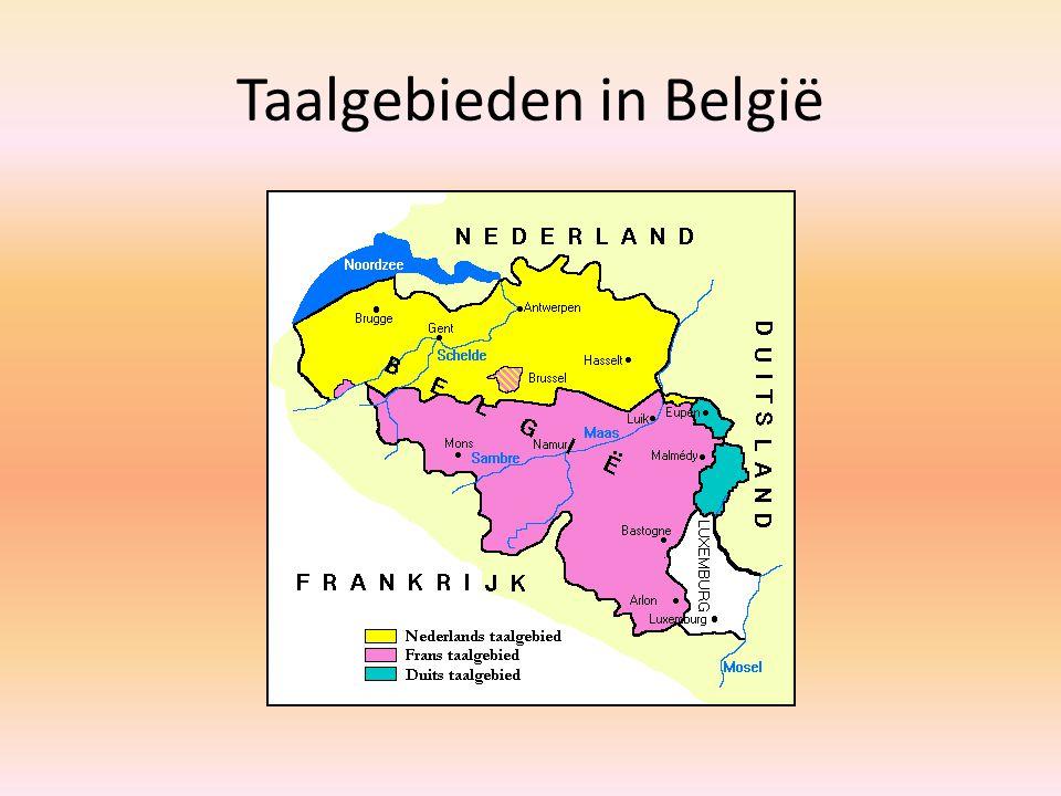 Taalgebieden in België