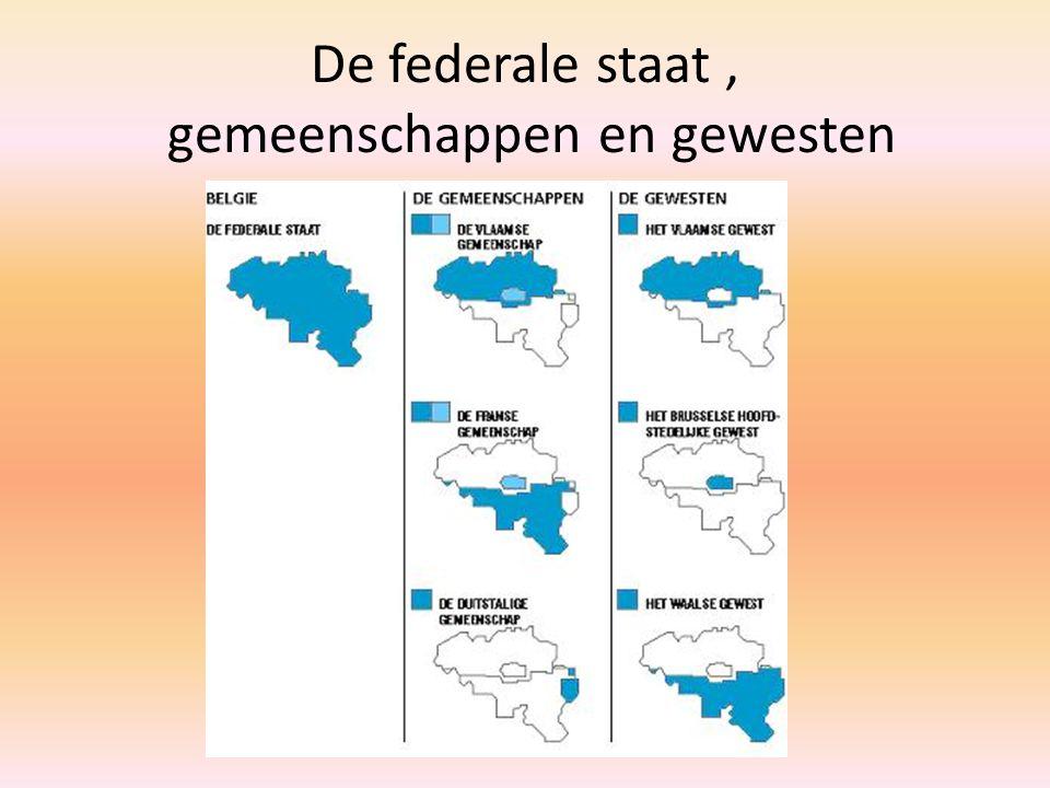 De federale staat, gemeenschappen en gewesten