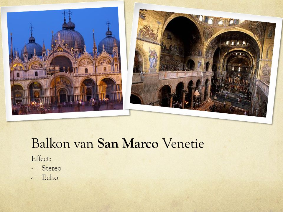 Balkon van San Marco Venetie Effect: - Stereo - Echo