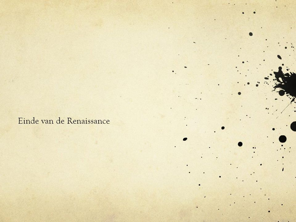 Einde van de Renaissance