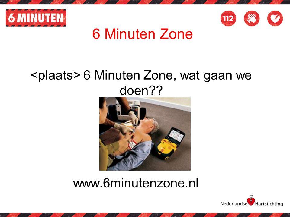6 Minuten Zone, wat gaan we doen?? www.6minutenzone.nl 6 Minuten Zone