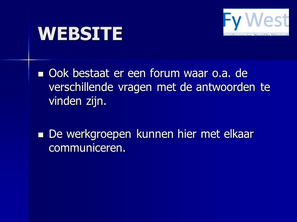 WEBSITE Ook bestaat er een forum waar o.a. de verschillende vragen met de antwoorden te vinden zijn. Ook bestaat er een forum waar o.a. de verschillen